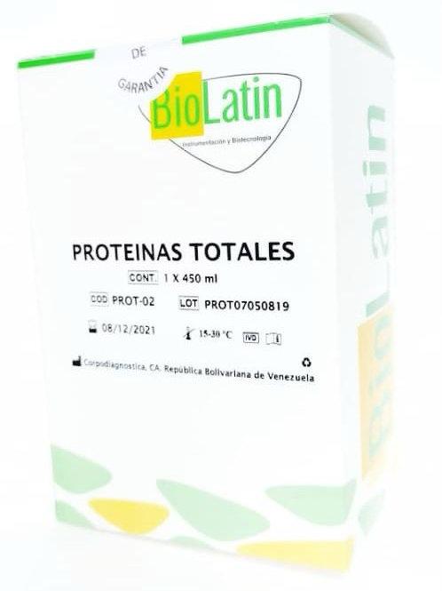 Proteinas Totales Reactivo Biolatin 1 x 450 mL
