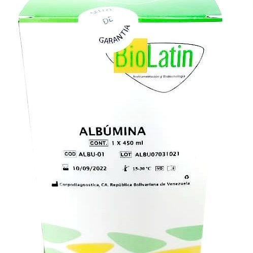 Albumina Reactivo Biolatin 1 x 450 mL
