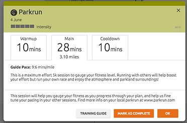 Mbition run training plans - how to use guide pace