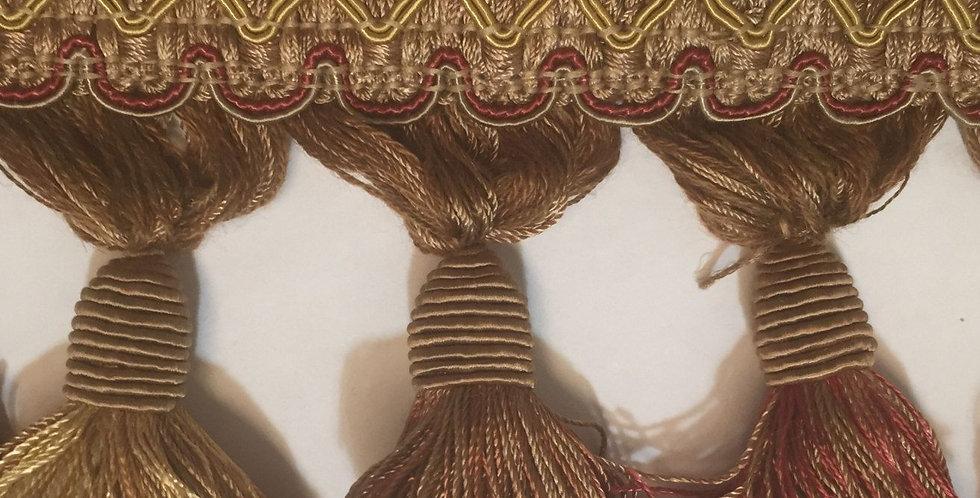 Gold and Rust Tassel Fringe