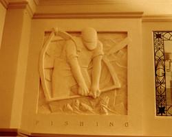 Cast stone relief