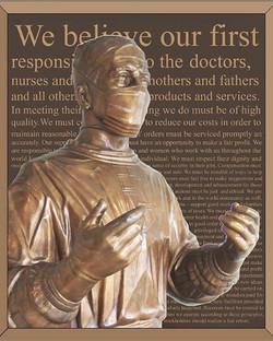 Bonded bronze plaque