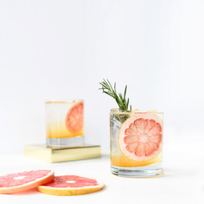 Gin and Grapefruit Tonic with Passionfruit and Rosemary