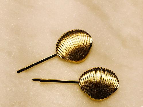 sea shell bobby pins
