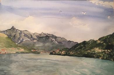 Aquarell, Lago Maggiore, S.Heinrich,