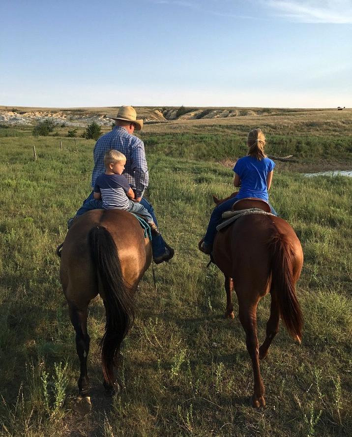 trail ride with grandpa