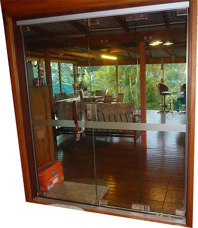 Frameless Glass Doors completed