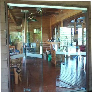 Frameless Glass Bifold installed