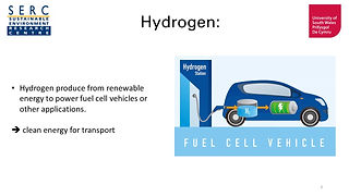 Hydrogen could be used as a carbon-free fuel for transport.