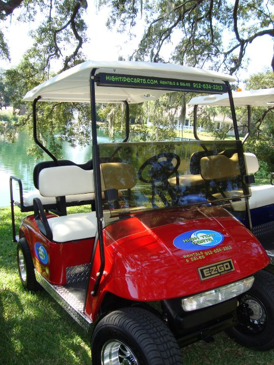 Red Electric Golf Cart Rental
