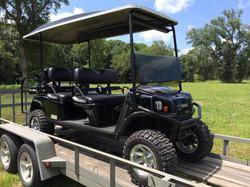 six passenger gas golf cart