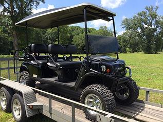 6 passenger gas golf cart