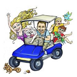 Sea ISland Golf Carts Family