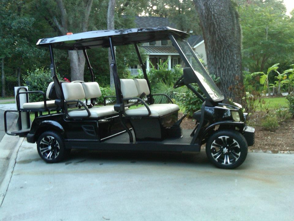 six passenger electric golf cart
