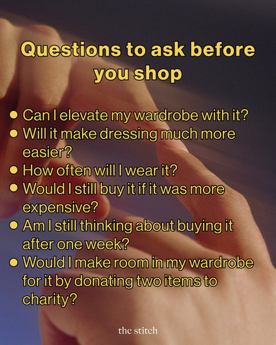 Questions To Ask Before You Shop | The Stitch