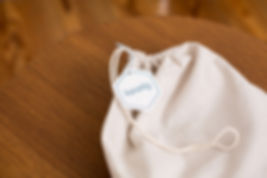Koselig Babydecke in Beutel aus Baumwolle