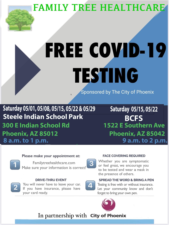 Steele Indian School Free COVID testing