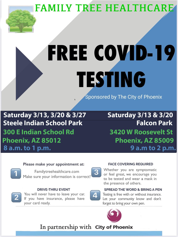 BCFS, Free Drive Through COVID Testing
