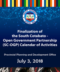 8 - July 3, 2018 - Finalization of the S