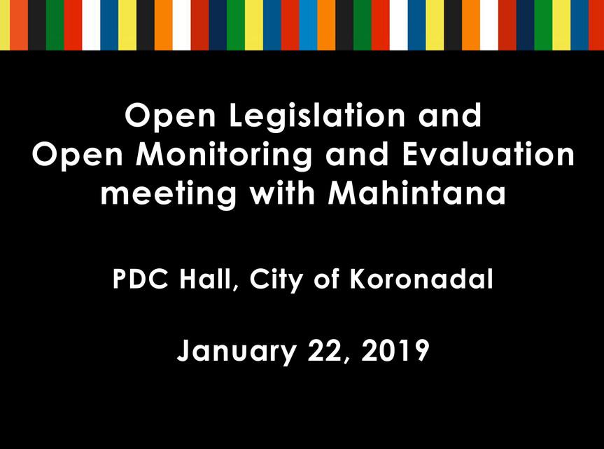 25 - 26 - January 22, 2019 - Open Legisl