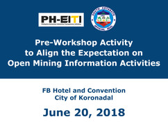 5 - June 20, 2018 - Pre-Workshop Activit