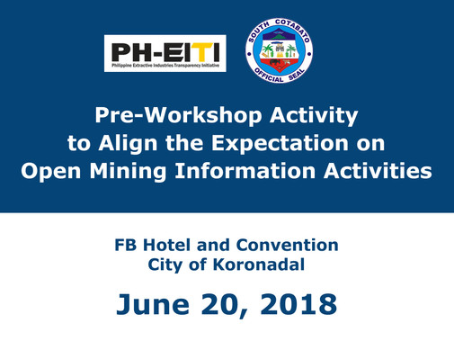 5 - June 20, 2018 - Pre-Workshop Activit