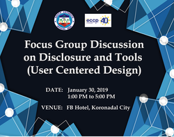 28 - January 30, 2019 - Focus Group Disc