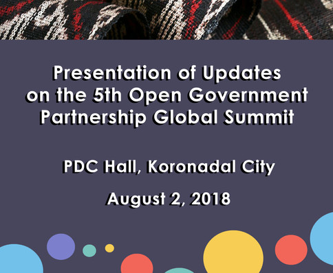 9 - August 2, 2018 - Presentation of Upd