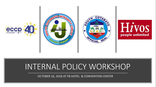 19 - October 16, 2018 -  Workshop to dra