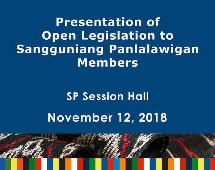 22 - November 12, 2018 - Presentation of