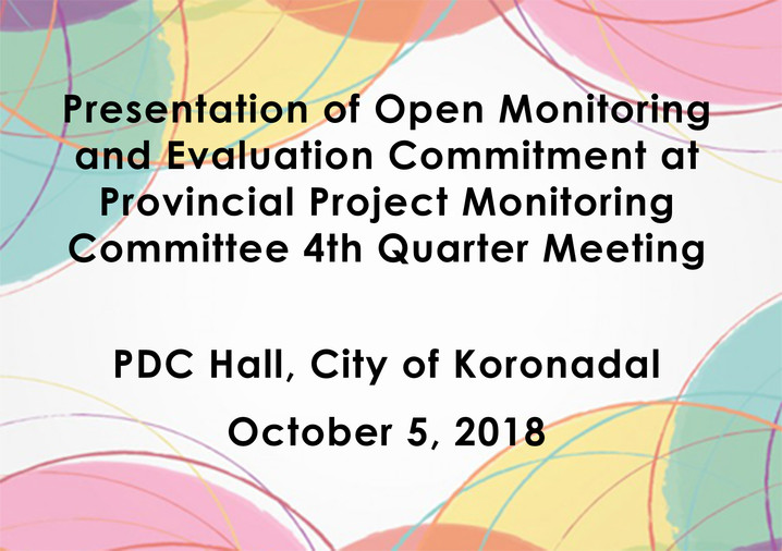 16 - October 5, 2018Presentation of Open