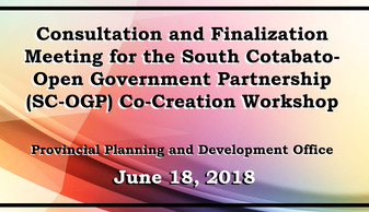 2 - June 18, 2018 - Consultation and Fin