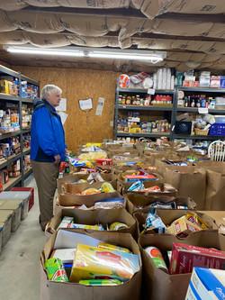 Volunteer in the St Vincent de Paul Food Pantry