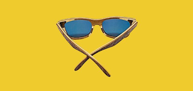 IKE FINLEY Skateboard Wood Sunglasses.pn