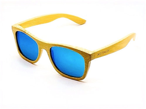 IKE FINLEY™ Iced Blue Classic Natural Bamboo Frame