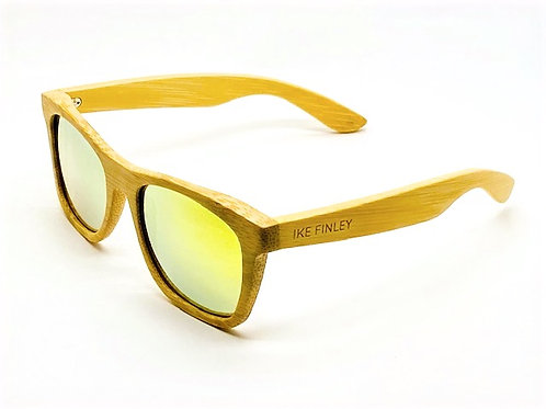 IKE FINLEY™ Lemon Yellow Classic Natural Bamboo Frame