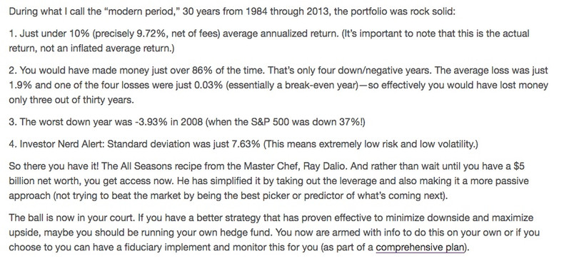 Ray Dalio's All Weather Portfolio For The Rest Of Us