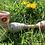 Thumbnail: Caramel Amber Purple Glass Hammer Pipe