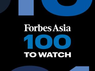 【メディア掲載】Forbes Asia 100 to Watchに選出されました
