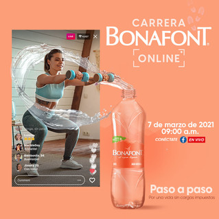 Bonafont realizará su Carrera Online 2021 e invita a aligerarse de las cargas