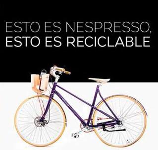 Nespresso lleva el reciclaje más allá, creando una bicicleta hecha de cápsulas