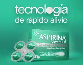 Ácido acetilsalicílico se desintegra y se absorbe más rápido.