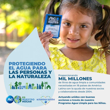 P&G proporciona agua limpia para beber en América Latina
