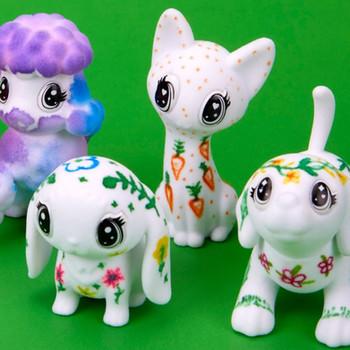 Pinta y despinta a los 12 animalitos de Crayola Toys