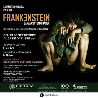 La macabra historia de Frankenstein a través de la danza