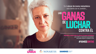 Eres única: campaña enfocada en cáncer de mama metastásico