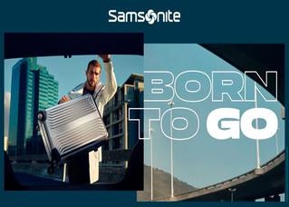 """""""Born to go"""" campaña global de Samsonite para marcas de viajes"""