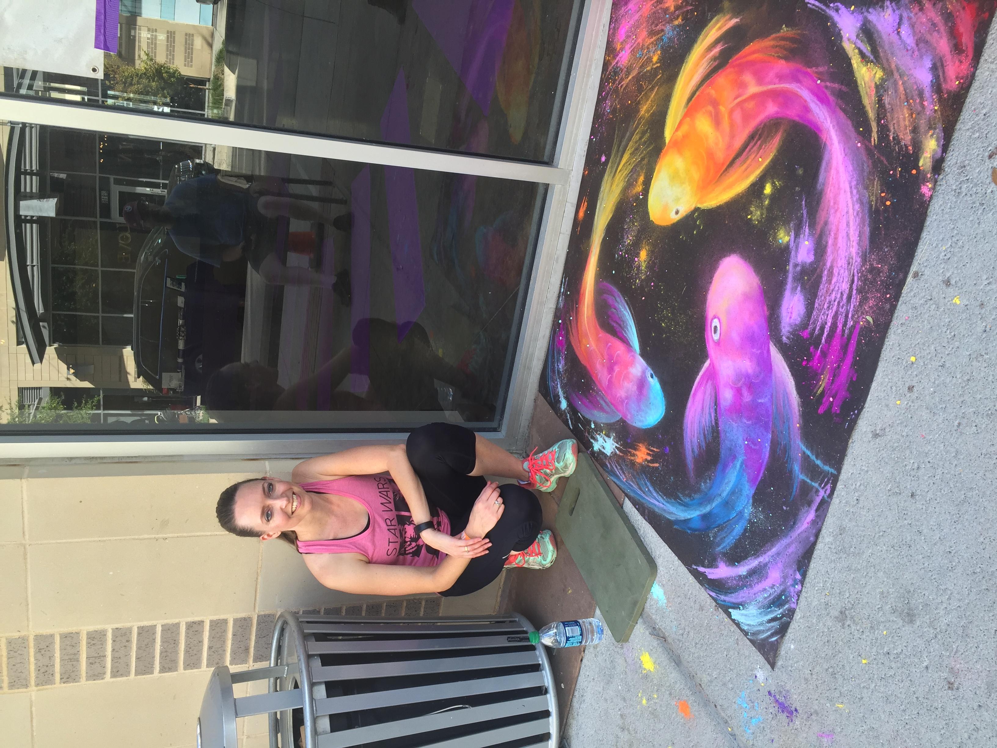Chalk Art 1st Place