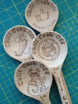 Chili Cook Off Wooden Award Spoons