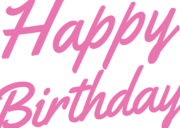 Greeting Card: Happy Birthday